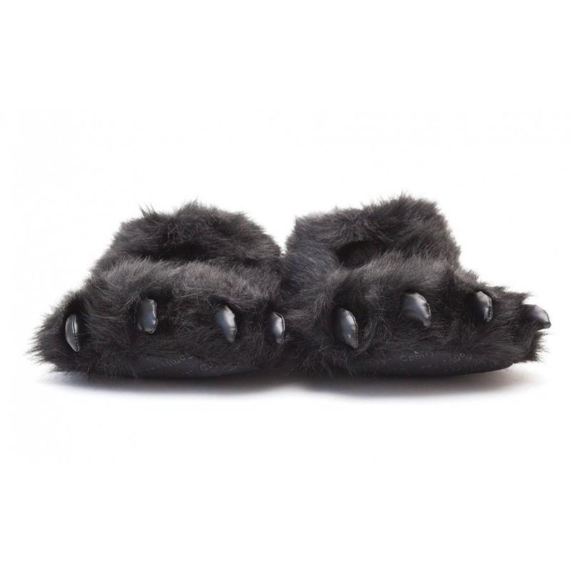 2e295122e66 Dierenpoot pantoffels/sloffen beer voor volwassenen zwart 39/41 ...