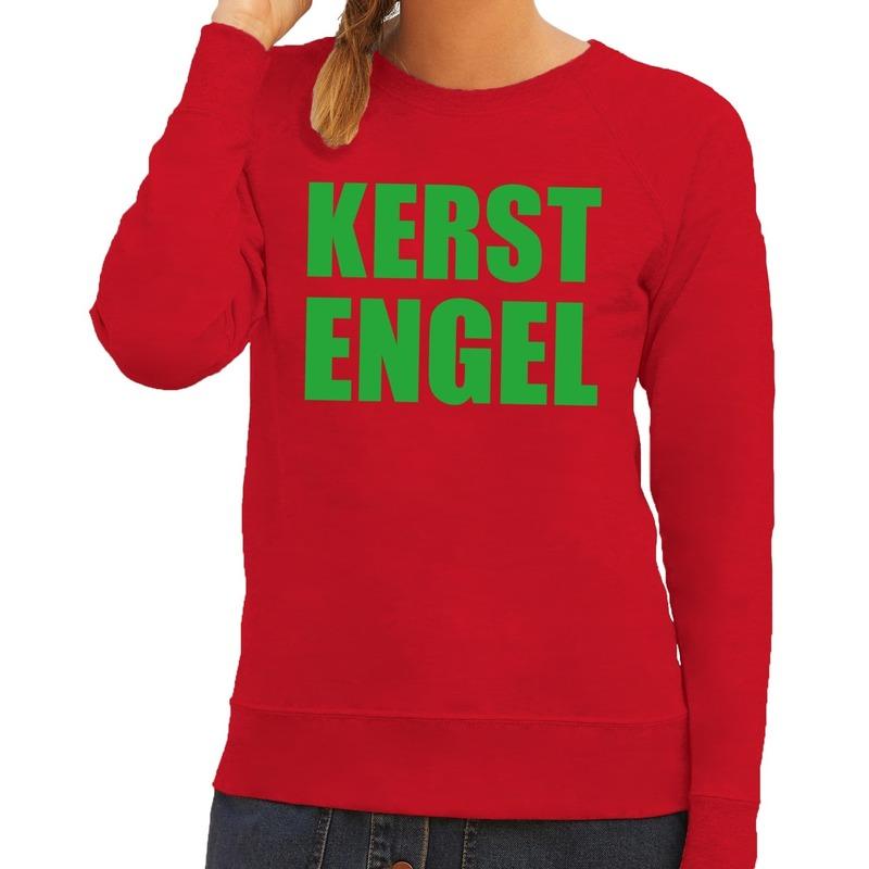 Foute Kersttrui Volwassenen.Foute Kersttrui Kerst Engel Rood Voor Dames Sloffen Pantoffel Winkel
