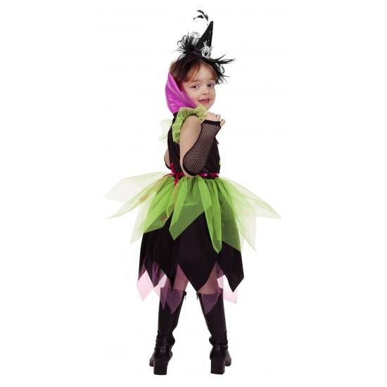 Zwart Los Jurkje.Heksen Verkleed Jurkje Groen Zwart Voor Meisjes Sloffen Pantoffel