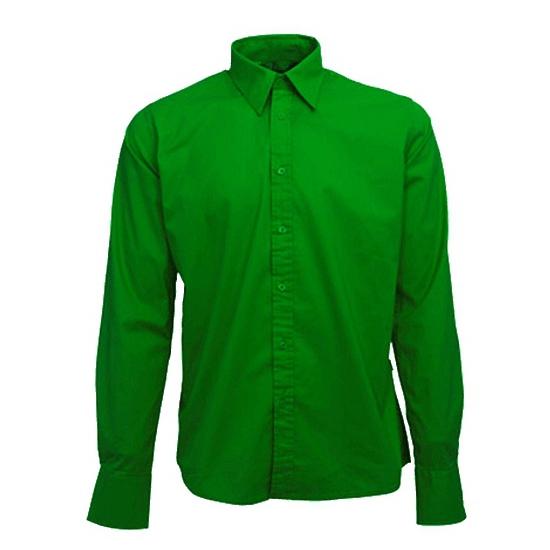 Katoenen Overhemd Heren.Groen Katoenen Overhemd Voor Heren Sloffen Pantoffel Winkel