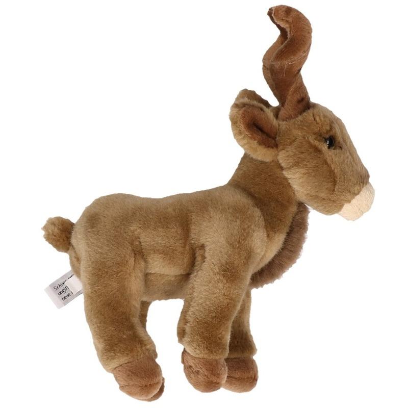 100380cb957850 Knuffeldier bruine geiten 20cm sloffen/ pantoffel winkel
