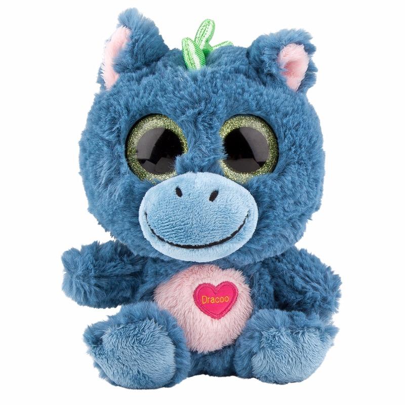 e6ea73e1abf76d Speelgoed draken knuffel blauw 18 cm sloffen/ pantoffel winkel