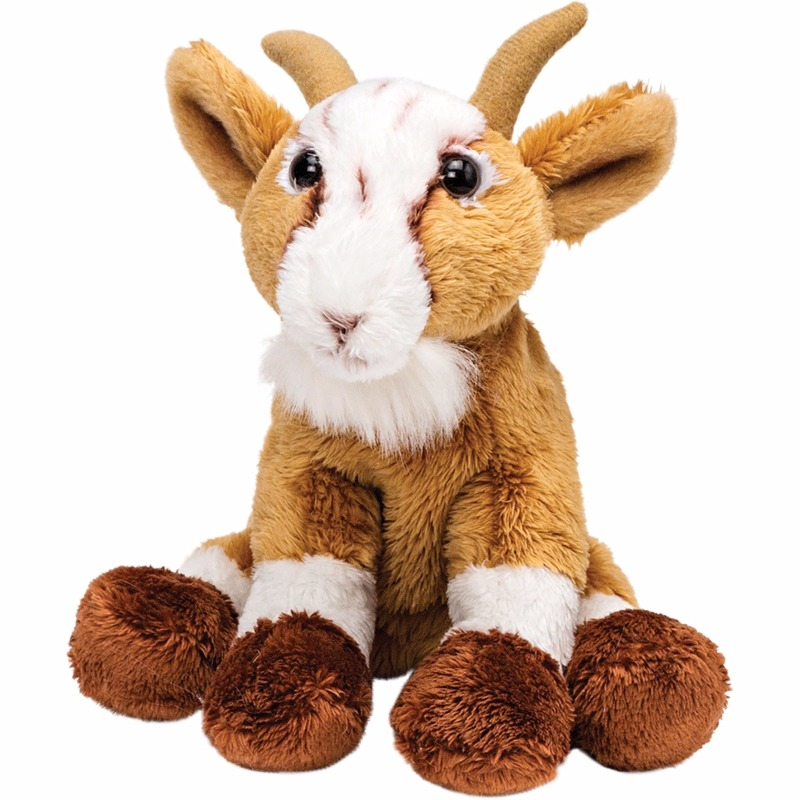 ca28a9cdd0d030 Zittende pluche geiten knuffel 15 cm sloffen/ pantoffel winkel