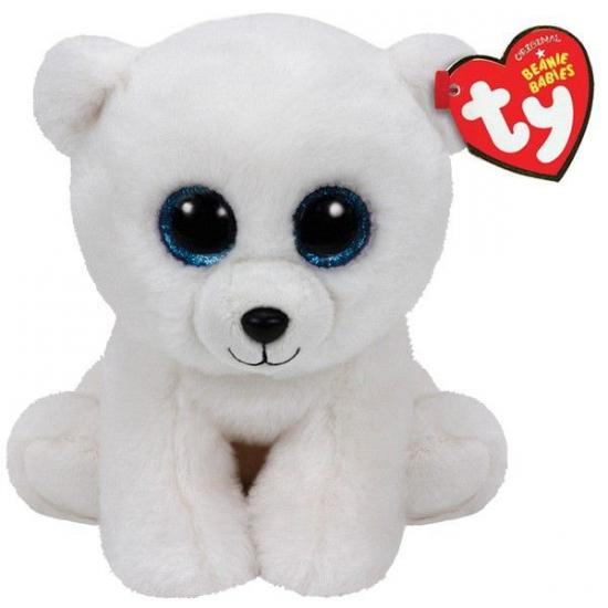 1f82efc0b69ead Ty Beanie knuffeltje ijsbeer met kraalogen 15 cm sloffen/ pantoffel ...