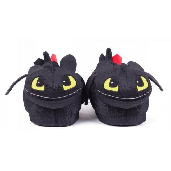 Comment Former Votre Adulte M (37 À 38,5) Un Dragon Noir Krokmou Pantoufles
