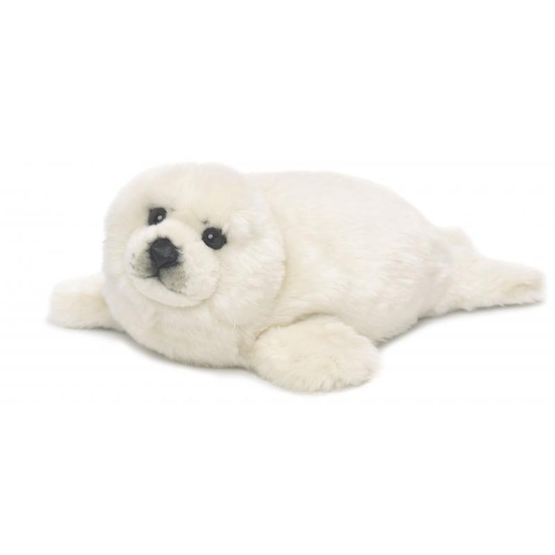 611a2f95ae803a Witte knuffel zeehond 38 cm sloffen/ pantoffel winkel